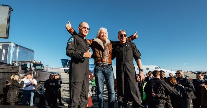 Richard Branson hopes to be in space next year with Virgin Galactic 1